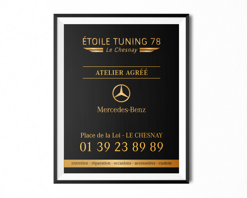 AFFICHE ETOILE TUNING 78 MERCEDES